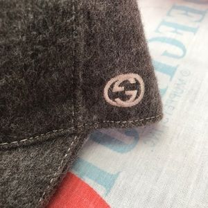 Authentic Gucci Size L wool ball cap